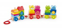 Pintoy Four Friend Wooden Train Set