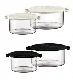 Bodum Hot Pot Set Black & White