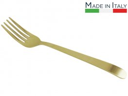 Salvinelli Gold Long Serving Fork