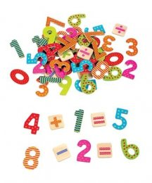 Lelin Wooden Magnetic Numbers