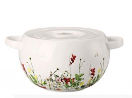 Fleur Sauvages Covered Serving Bowl