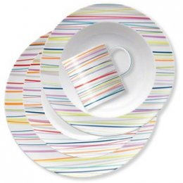 Sunny Day Stripes Place Setting