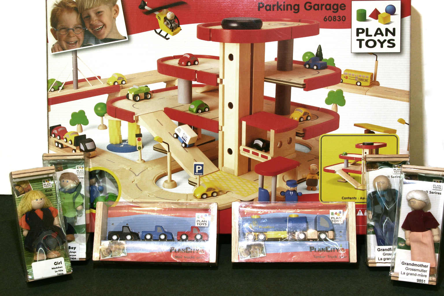 Plan Toys 6227 Wooden Parking Garage